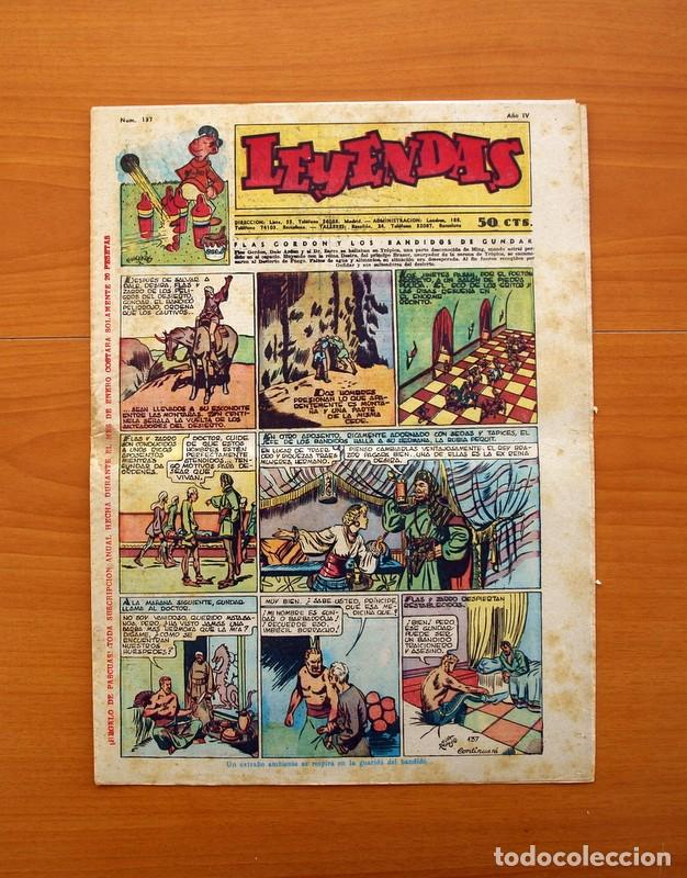 LEYENDAS, Nº 137 - EDITORIAL HISPANO AMERICANA 1944 - TAMAÑO 37X27 (Tebeos y Comics - Hispano Americana - Leyendas Infantiles)