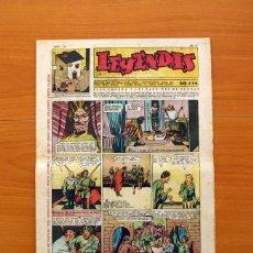 Tebeos: LEYENDAS, Nº 138 - EDITORIAL HISPANO AMERICANA 1944 - TAMAÑO 37X27. Lote 97857627