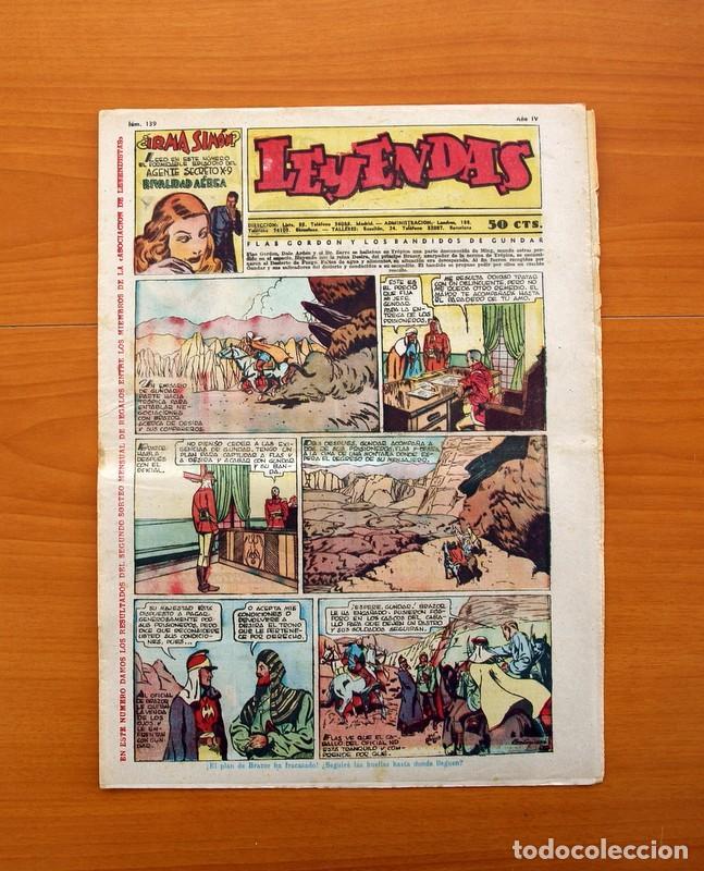 LEYENDAS, Nº 139 - EDITORIAL HISPANO AMERICANA 1944 - TAMAÑO 37X27 (Tebeos y Comics - Hispano Americana - Leyendas Infantiles)