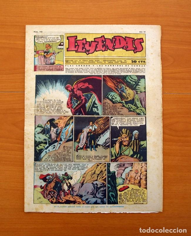 LEYENDAS, Nº 143 - EDITORIAL HISPANO AMERICANA 1944 - TAMAÑO 37X27 (Tebeos y Comics - Hispano Americana - Leyendas Infantiles)