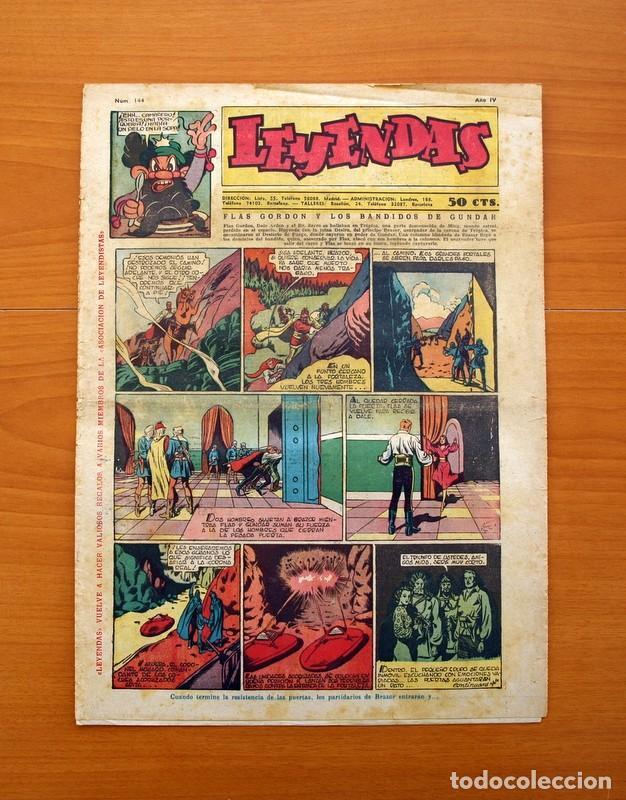 LEYENDAS, Nº 144 - EDITORIAL HISPANO AMERICANA 1944 - TAMAÑO 37X27 (Tebeos y Comics - Hispano Americana - Leyendas Infantiles)