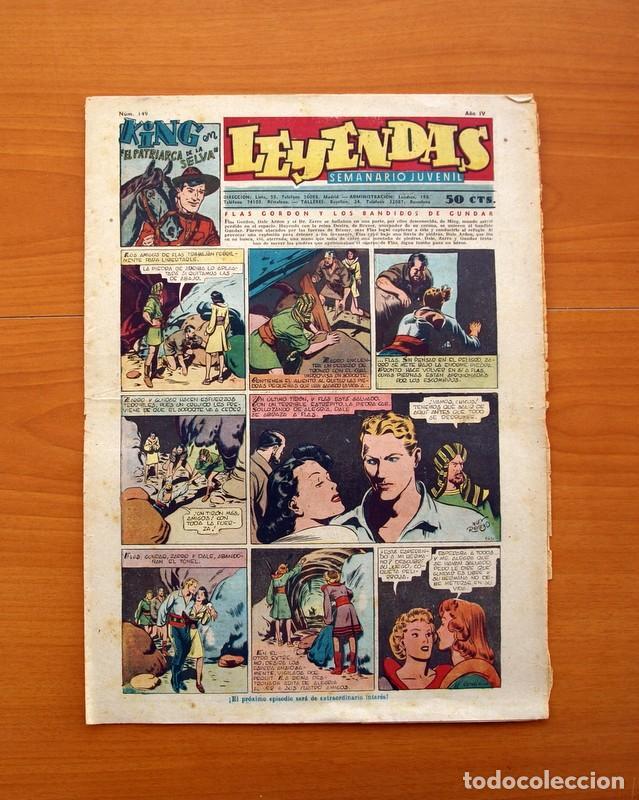 LEYENDAS, SEMANARIO JUVENIL, Nº 149 - EDITORIAL HISPANO AMERICANA 1944 - TAMAÑO 37X27 (Tebeos y Comics - Hispano Americana - Leyendas Infantiles)