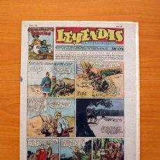 Tebeos: LEYENDAS, SEMANARIO JUVENIL, Nº 153 - EDITORIAL HISPANO AMERICANA 1944 - TAMAÑO 37X27. Lote 97858707