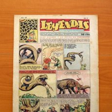 Tebeos: LEYENDAS,SEMANARIO JUVENIL, Nº 168 - EDITORIAL HISPANO AMERICANA 1944 - TAMAÑO 37X27. Lote 97859511