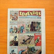 Tebeos: LEYENDAS, SEMANARIO JUVENIL, Nº 169 - EDITORIAL HISPANO AMERICANA 1944 - TAMAÑO 37X27. Lote 97859615