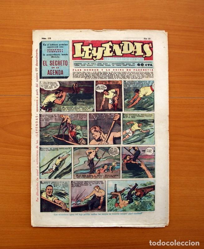 LEYENDAS, SEMANARIO JUVENIL Nº 176 - EDITORIAL HISPANO AMERICANA 1944 - TAMAÑO 37X27 (Tebeos y Comics - Hispano Americana - Leyendas Infantiles)