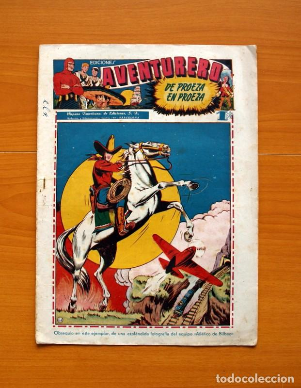 AVENTURERO 2ª ÉPOCA O SERIE, Nº 4 - EDITORIAL HISPANO AMERICANA 1945 - TAMAÑO 38X27 (Tebeos y Comics - Hispano Americana - Aventurero)