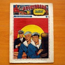 Tebeos: AVENTURERO 2ª ÉPOCA O SERIE, Nº 8 - EDITORIAL HISPANO AMERICANA 1945 - TAMAÑO 38X27. Lote 97909007
