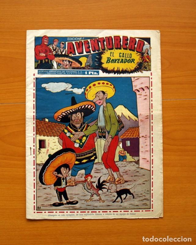 AVENTURERO 2ª ÉPOCA O SERIE, Nº 16 - EDITORIAL HISPANO AMERICANA 1945 - TAMAÑO 38X27 (Tebeos y Comics - Hispano Americana - Aventurero)