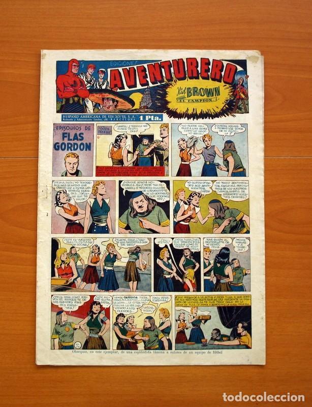 AVENTURERO 2ª ÉPOCA O SERIE, Nº 24 - EDITORIAL HISPANO AMERICANA 1945 - TAMAÑO 35X25 (Tebeos y Comics - Hispano Americana - Aventurero)