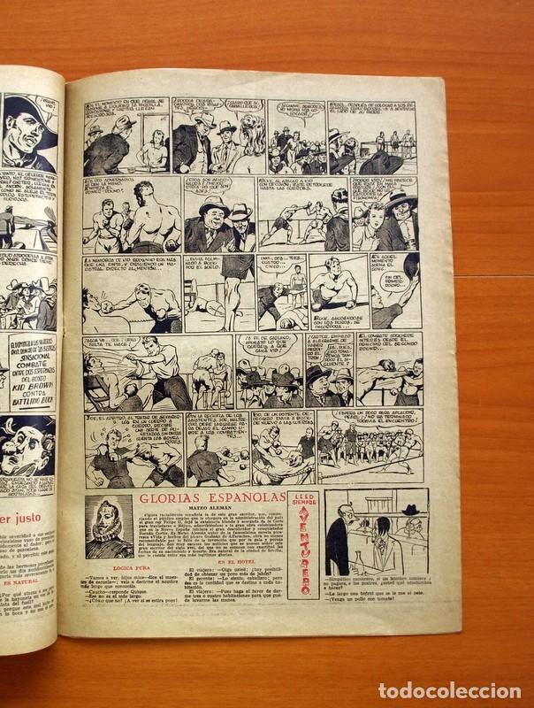 Tebeos: Aventurero 2ª época o serie, nº 24 - Editorial Hispano Americana 1945 - Tamaño 35x25 - Foto 4 - 97911307
