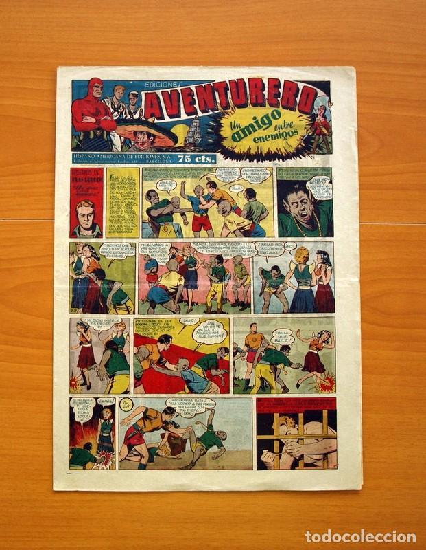 AVENTURERO 2ª ÉPOCA O SERIE, Nº 28 - EDITORIAL HISPANO AMERICANA 1945 - TAMAÑO 35X25 (Tebeos y Comics - Hispano Americana - Aventurero)