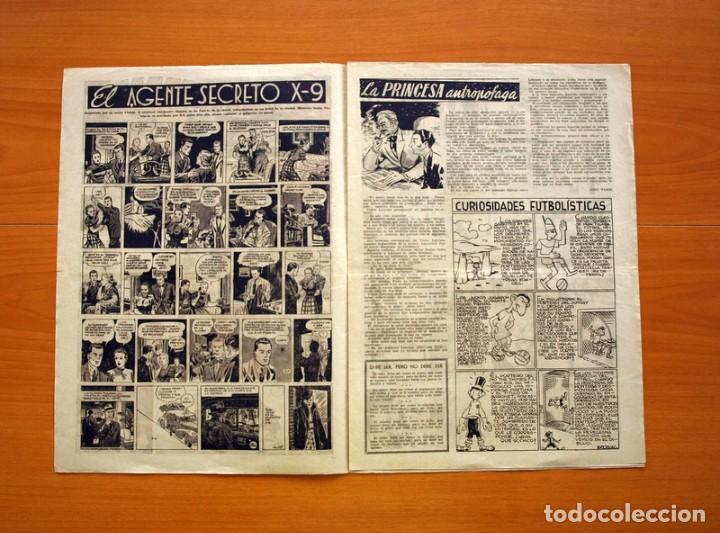 Tebeos: Aventurero 2ª época o serie, nº 28 - Editorial Hispano Americana 1945 - Tamaño 35x25 - Foto 2 - 97911411