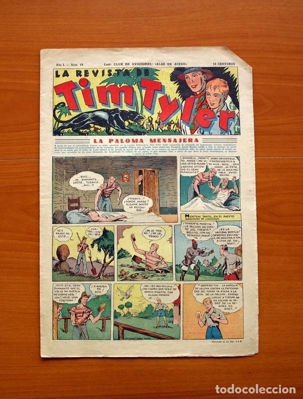 TIM TYLER, Nº 13, LA PALOMA MENSAJERA - EDITORIAL HISPANO AMERICANA 1934 - TAMAÑO 39X27 (Tebeos y Comics - Hispano Americana - Tim Tyler)