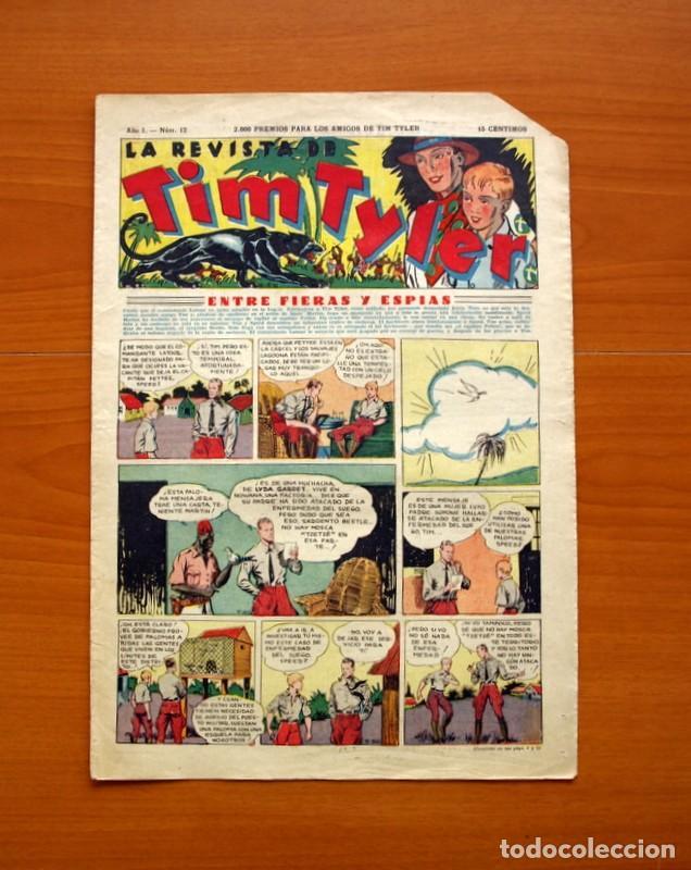 TIM TYLER, Nº 12, ENTRE FIERAS Y ESPÍAS - EDITORIAL HISPANO AMERICANA 1934 - TAMAÑO 39X27 (Tebeos y Comics - Hispano Americana - Tim Tyler)