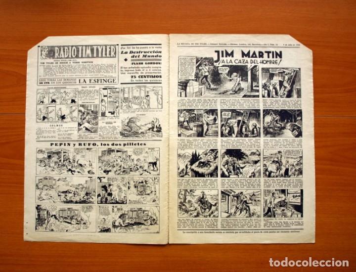 Tebeos: Tim Tyler, nº 12, Entre fieras y espías - Editorial Hispano Americana 1934 - Tamaño 39x27 - Foto 2 - 97921931