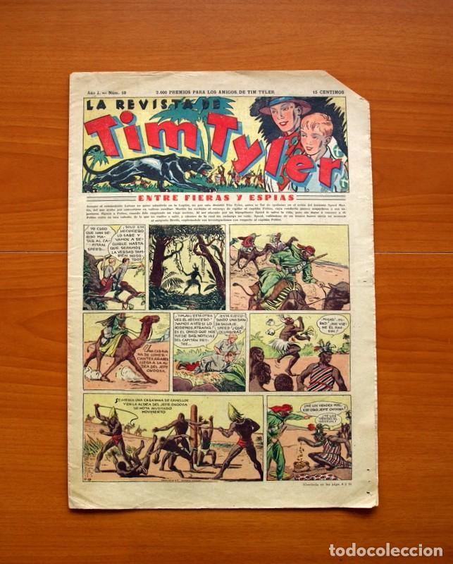 TIM TYLER, Nº 10, ENTRE FIERAS Y ESPÍAS - EDITORIAL HISPANO AMERICANA 1934 - TAMAÑO 39X27 (Tebeos y Comics - Hispano Americana - Tim Tyler)