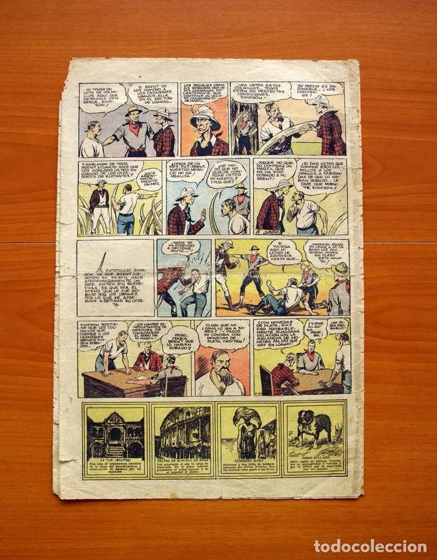 Tebeos: Tim Tyler, nº 66, Oro blanco y Plata negra - Editorial Hispano Americana 1934 - Tamaño 39x27 - Foto 5 - 97922851