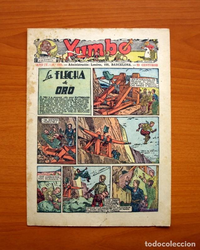 YUMBO, Nº 153, LA FLECHA DE ORO - EDITORIAL HISPANO AMERICANA 1935 - TAMAÑO 27X19'5 (Tebeos y Comics - Hispano Americana - Yumbo)