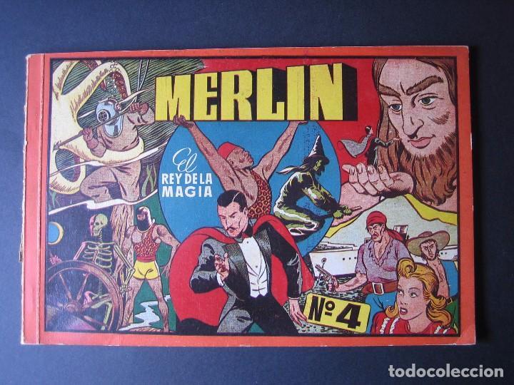 MERLIN Nº4 ( HISPANO AMERICANA DE EDICIONES.1944) (Tebeos y Comics - Hispano Americana - Merlín)