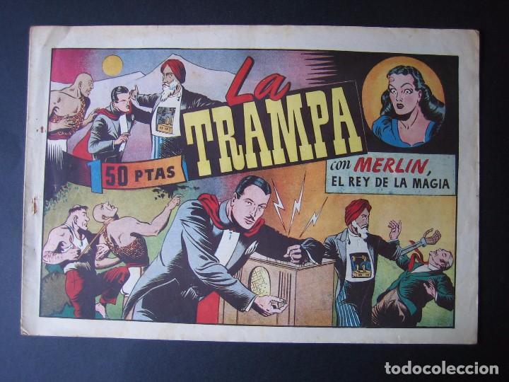 MERLÍN Nº 44 (HISPANO AMERICANA DE EDICIONES,1942) (Tebeos y Comics - Hispano Americana - Merlín)