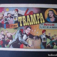 Tebeos: MERLÍN Nº 44 (HISPANO AMERICANA DE EDICIONES,1942). Lote 97994283