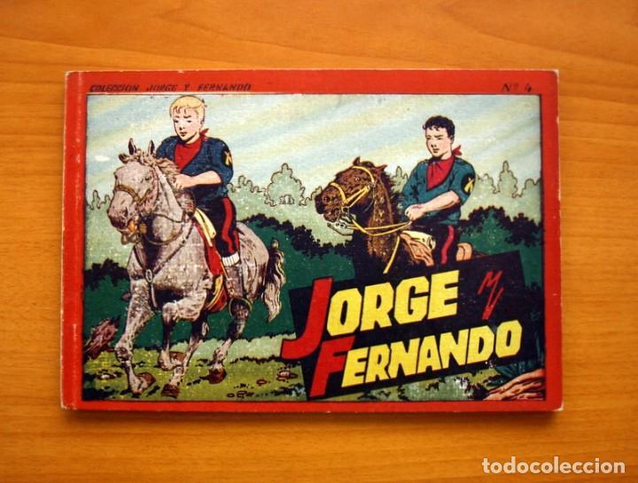 JORGE Y FERNANDO, ÁLBUM Nº 4 - EDITORIAL HISPANO AMERICANA 1944 - TAMAÑO 17X25 (Tebeos y Comics - Hispano Americana - Jorge y Fernando)
