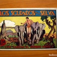 Tebeos: TARZÁN - Nº 9, LOS SOLDADOS DE LA SELVA - EDITORIAL HISPANO AMERICANA 1942 - TAMAÑO 21'5X31. Lote 98107751