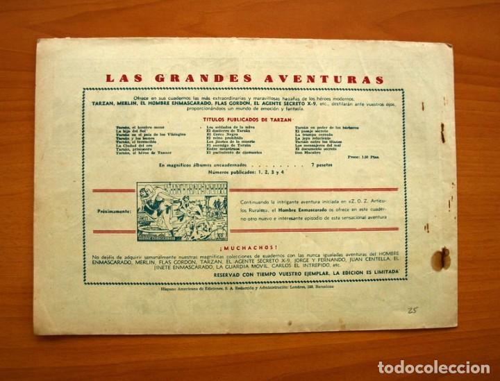 Tebeos: Tarzán - nº 25, El jardin de la muerte - Editorial Hispano Americana 1942 - Tamaño 215x31 - Foto 6 - 98108291