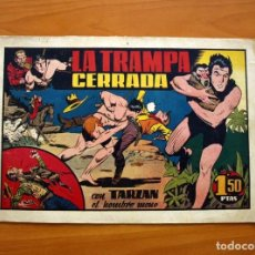 Tebeos: TARZÁN - Nº 19, LA TRAMPA CERRADA - EDITORIAL HISPANO AMERICANA 1942 - TAMAÑO 21'5X31. Lote 98108399
