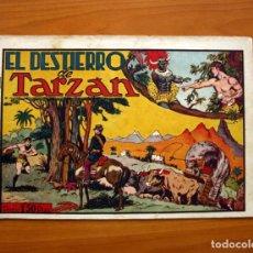 Tebeos: TARZÁN - Nº 10, EL DESTIERRO DE TARZAN - EDITORIAL HISPANO AMERICANA 1942 - TAMAÑO 21'5X31. Lote 98108763