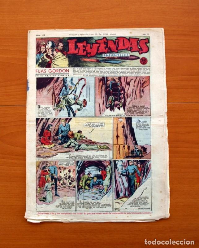 LEYENDAS INFANTILES, Nº 112 - EDITORIAL HISPANO AMERICANA 1944 - TAMAÑO 37X27 (Tebeos y Comics - Hispano Americana - Leyendas Infantiles)