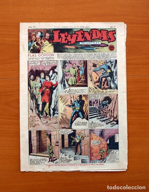 LEYENDAS INFANTILES, Nº 113 - EDITORIAL HISPANO AMERICANA 1944 - TAMAÑO 37X27 (Tebeos y Comics - Hispano Americana - Leyendas Infantiles)