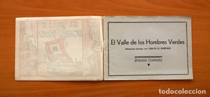 Tebeos: Carlos el intrépido nº 6, El valle de los hombres verdes - Editorial Hispano Americana 1942 - Foto 2 - 98136407