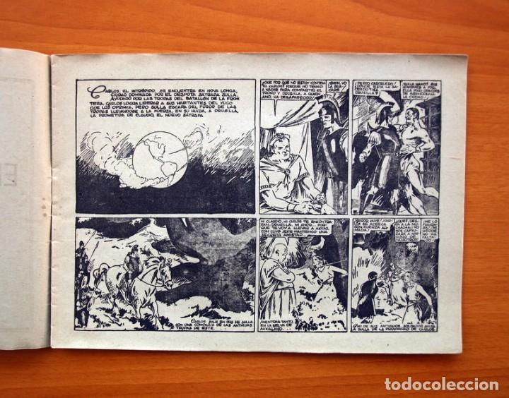 Tebeos: Carlos el intrépido nº 6, El valle de los hombres verdes - Editorial Hispano Americana 1942 - Foto 3 - 98136407