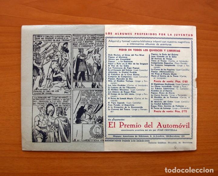 Tebeos: Carlos el intrépido nº 6, El valle de los hombres verdes - Editorial Hispano Americana 1942 - Foto 8 - 98136407