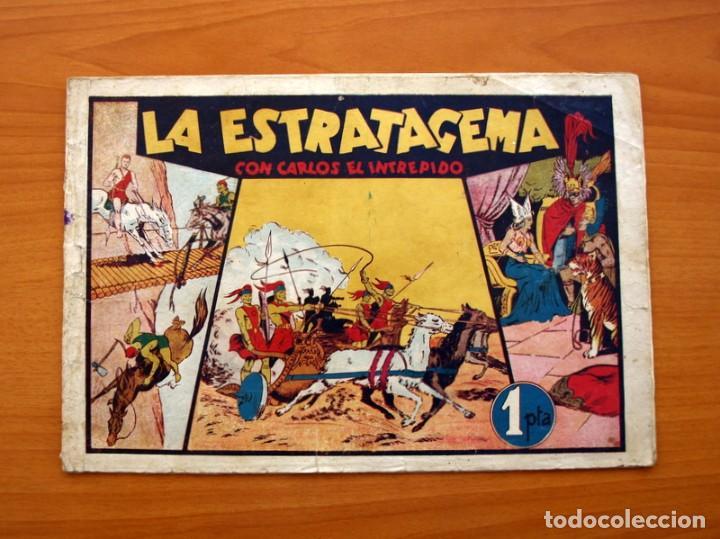 CARLOS EL INTRÉPIDO, Nº 9, LA ESTRATAGEMA - EDITORIAL HISPANO AMERICANA 1942 - TAMAÑO 21X31 (Tebeos y Comics - Hispano Americana - Carlos el Intrépido)