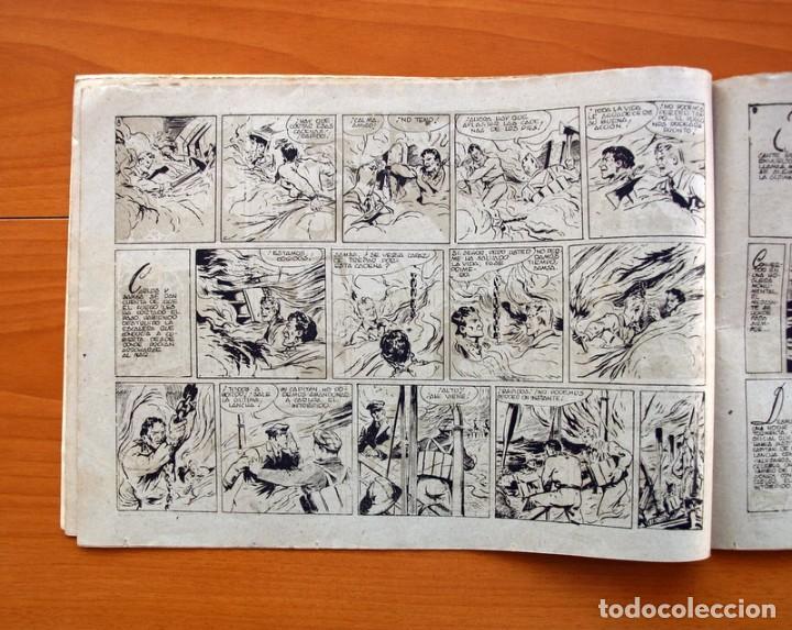 Tebeos: Carlos el intrépido, nº 19 Perdidos en el Atlántico - Editorial Hispano Americana 1942- Tamaño 21x31 - Foto 4 - 98137199