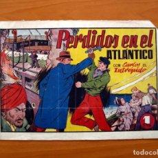 Tebeos: CARLOS EL INTRÉPIDO, Nº 19 PERDIDOS EN EL ATLÁNTICO - EDITORIAL HISPANO AMERICANA 1942- TAMAÑO 21X31. Lote 98137291