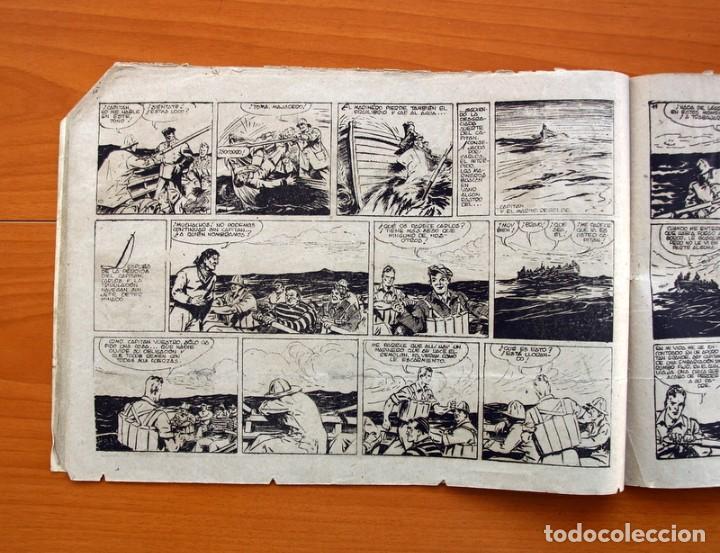 Tebeos: Carlos el intrépido, nº 19 Perdidos en el Atlántico - Editorial Hispano Americana 1942- Tamaño 21x31 - Foto 5 - 98137291