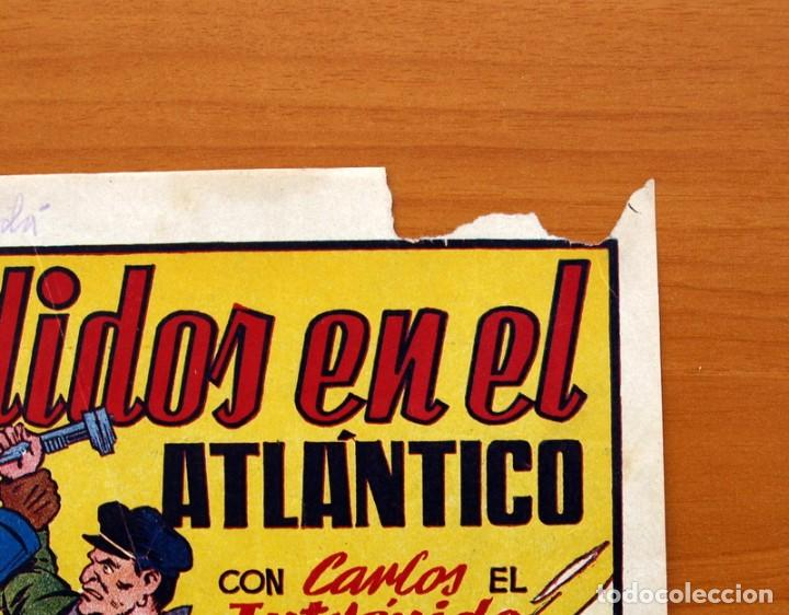 Tebeos: Carlos el intrépido, nº 19 Perdidos en el Atlántico - Editorial Hispano Americana 1942- Tamaño 21x31 - Foto 3 - 98137431