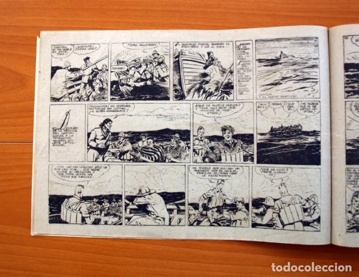 Tebeos: Carlos el intrépido, nº 19 Perdidos en el Atlántico - Editorial Hispano Americana 1942- Tamaño 21x31 - Foto 5 - 98137431