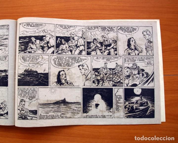 Tebeos: Carlos el intrépido, nº 19 Perdidos en el Atlántico - Editorial Hispano Americana 1942- Tamaño 21x31 - Foto 6 - 98137431