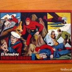 Tebeos: EL HOMBRE ENMASCARADO, ÁLBUM Nº 8 - EDITORIAL HISPANO AMERICANA 1943 - TAMAÑO 21X31'5. Lote 98139235