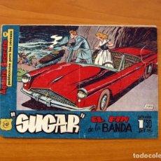 Tebeos: SUGAR - AGENTE SECRETO, Nº 10, EL FIN DE LA BANDA - HISPANO AMERICANA 1960 - TAMAÑO 17X24. Lote 98183403