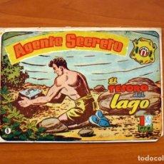 Tebeos: AGENTE SECRETO, Nº 5, EL TESORO DEL LAGO - EDITORIAL HISPANO AMERICANA 1957 - TAMAÑO 17X24. Lote 98183623
