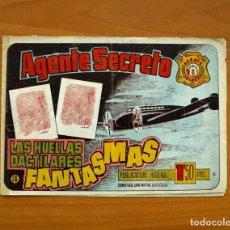 Tebeos: AGENTE SECRETO, Nº 16 LAS HUELLAS DACTILARES FANTASMAS-EDITORIAL HISPANO AMERICANA 1957-TAMAÑO 17X24. Lote 98183811