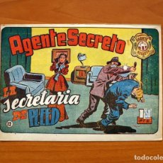 Tebeos: AGENTE SECRETO, Nº 12, LA SECRETARIA DE PLEED - EDITORIAL HISPANO AMERICANA 1957 - TAMAÑO 17X24. Lote 98184119