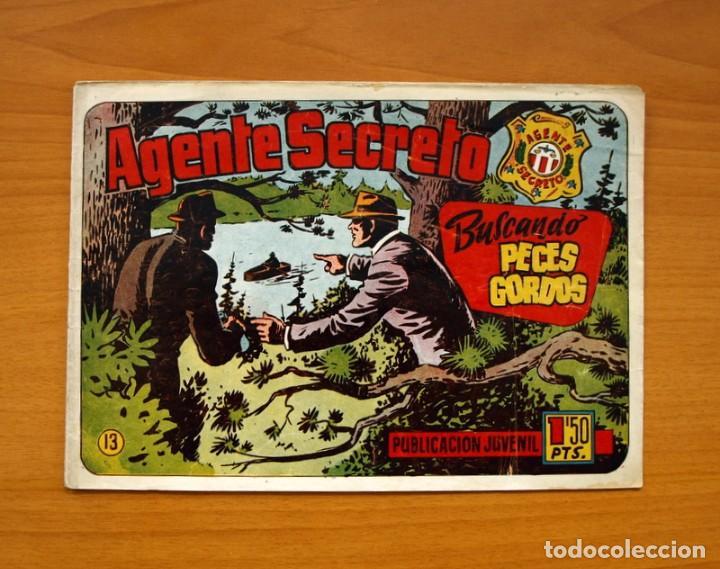 AGENTE SECRETO, Nº 13, BUSCANDO PECES GORDOS - EDITORIAL HISPANO AMERICANA 1957 - TAMAÑO 17X24 (Tebeos y Comics - Hispano Americana - Otros)