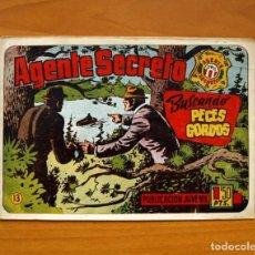 Tebeos: AGENTE SECRETO, Nº 13, BUSCANDO PECES GORDOS - EDITORIAL HISPANO AMERICANA 1957 - TAMAÑO 17X24. Lote 98184499